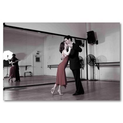Αφίσα (ταγκό, Μαθήματα χορού, μαύρο, λευκό, άσπρο)